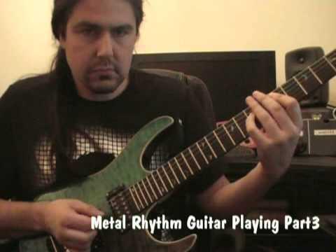 Metal Rhythm Guitar Playing Part3   Lick Of The Week 20