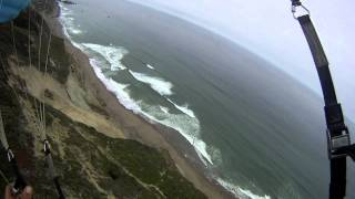 Pacifica, CA- Speed flying and paragliding the