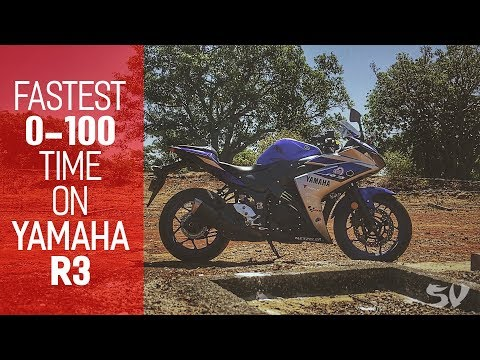 Fastest 0 60 0 100 Time On Yamaha R3 Acceleration Test