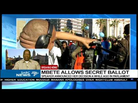 Prof. Lesiba Teffo reacts to Mbete's secret ballot decision Part 2