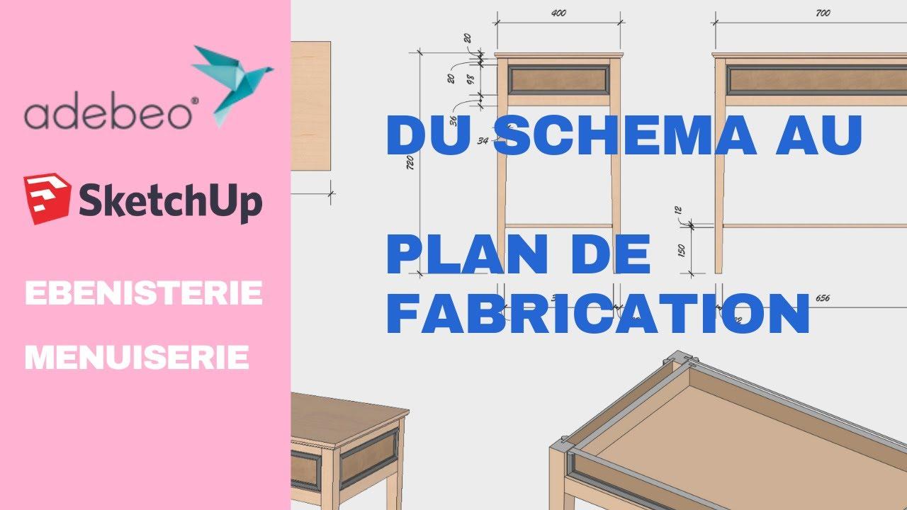 Dessiner Un Meuble D Entree Et Faire Un Plan De Fabrications Avec Sketchup Menuiserie Youtube
