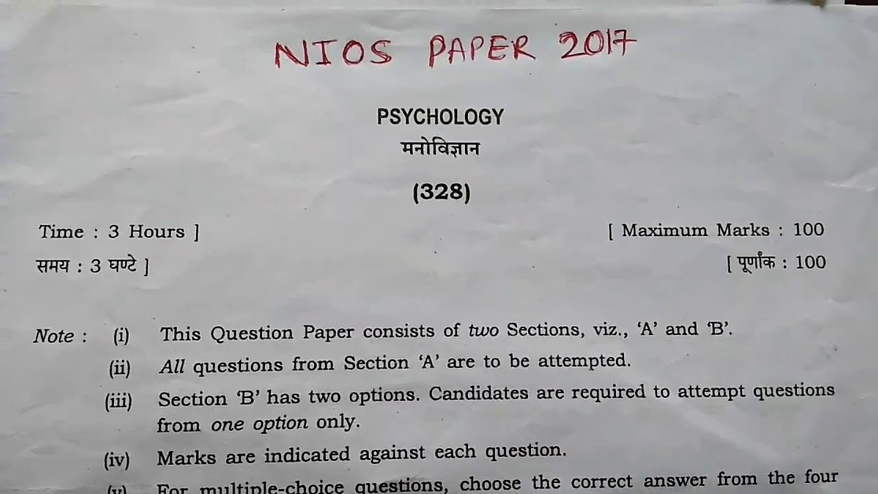 Psychology Questions And Answers