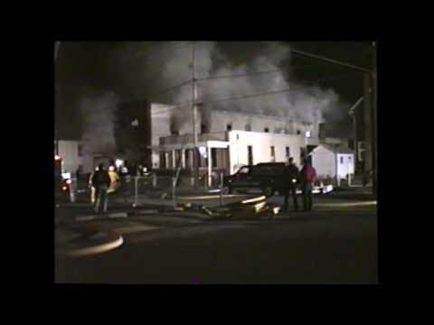 Gross Street Fire Circa 1991 in Ephrata PA.  Railfuzz Video Production.