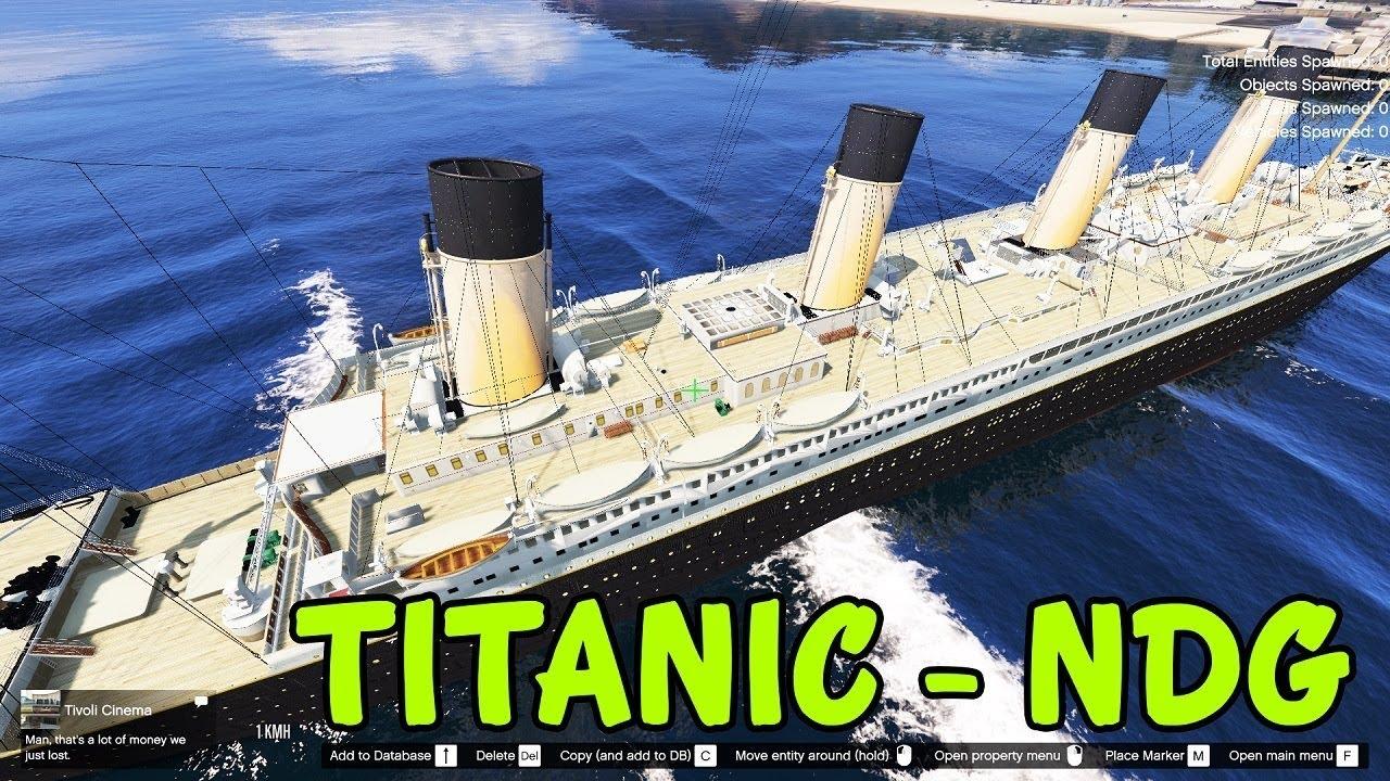 GTA 5 – Đi câu cá gặp tàu Titanic bị chìm trên biển | ND Gaming