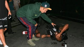 Justin Bieber Caught Hitting A Photographer With His Truck
