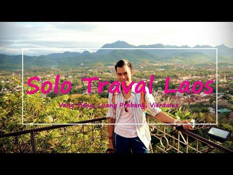 Laos Travel Vlog |คนเดียว เที่ยวลาว | A week in Laos | Vang Vieng,  Luang Prabang,  Vientiane