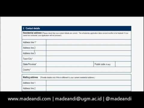 Cara Mengisi Formulir Beasiswa ADS (Australian Development Scholarship) - Part 2