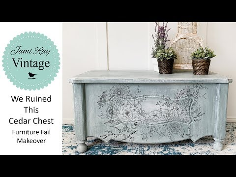 We Ruined This Cedar Chest | Furniture Fail Makeover