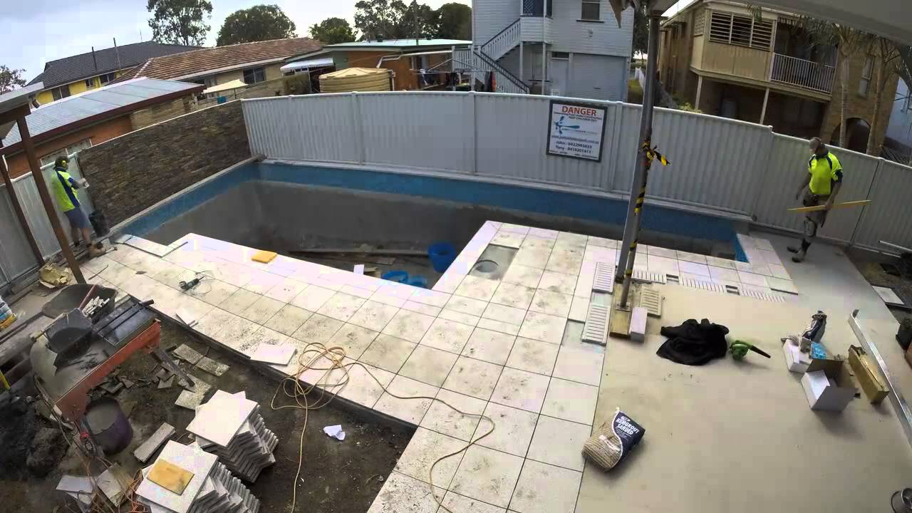 Swimming Pool Construction Brisbane Qld Start To Finish Youtube