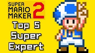Super Mario Maker Top 5 SUPER EXPERT Courses with TOAD (Switch)