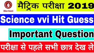 Class 10th Science vvi Important Objective & Subjective Question, Bihar 10th Science Guess Question,