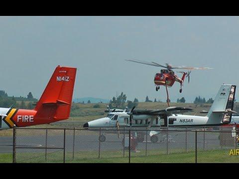 Firefighting Aircraft Activity around McCall, Idaho 16 July 2014