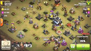 Clash of Clans l Clan Wars l Fail Balloonion on Th9 Without Walls