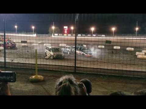 Sycamore Speedway van demolition July 2017