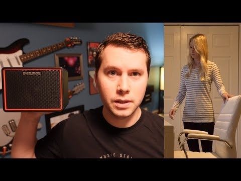 SCARING my wife with a hidden guitar amp
