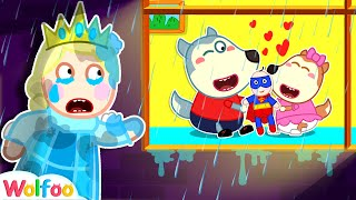 No No! Wolfoo Doesn't Play with Elsa Doll - Learn Good Habits for Kids   Wolfoo Family Kids Cartoon