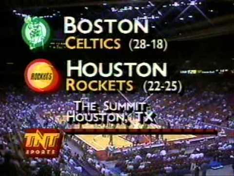 NBA on TNT Intro (February 13, 1990): Celtics/Rockets