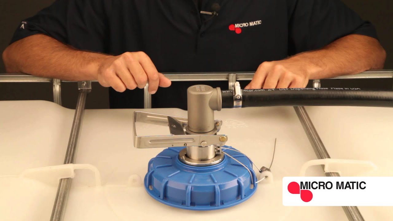 How to Dispense DEF with a Micro Matic Dispense Coupler - YouTube