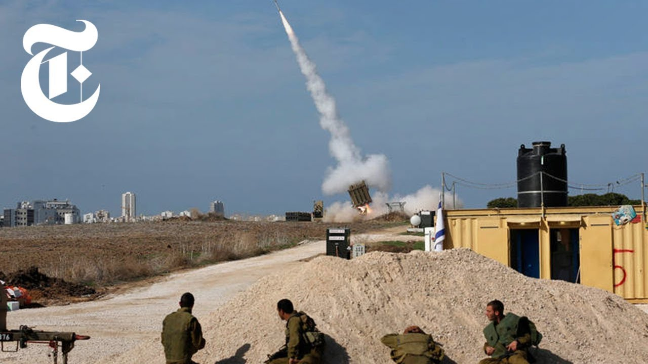 Iron Dome in Action in Israel: Shooting Down Rockets   The New York Times