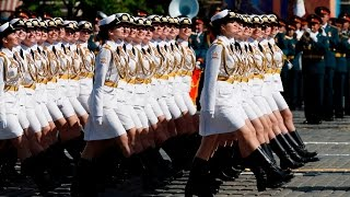 #Путинская «армия в мини юбках» Парад 9 мая 2016г