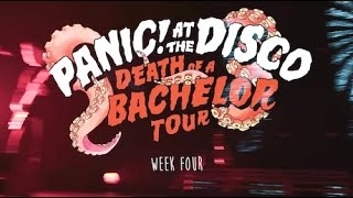 panic at the disco death of a bachelor tour week 4 recap