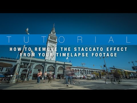 How To Smooth Out Your Timelapse Footage