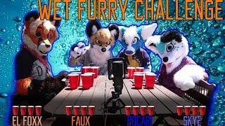 WET FURRY CHALLENGE w/Pocari Roo, Skye and El Foxx
