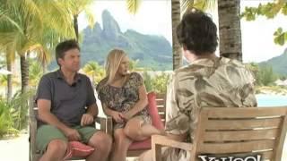 Sean Phillips talks to the cast of Couples Retreat in Bora Bora