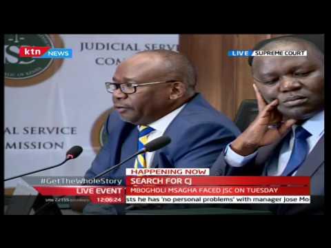 CJ Interviews:Justice David Maraga being interviewed at the supreme court