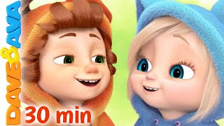 😃 If You're Happy and You Know It and More Nursery Rhymes and Kids Songs | Dave and Ava 😃