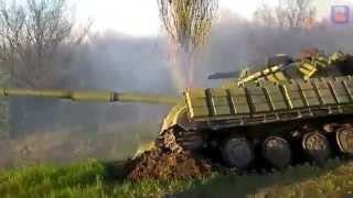 Украинский танк застрял
