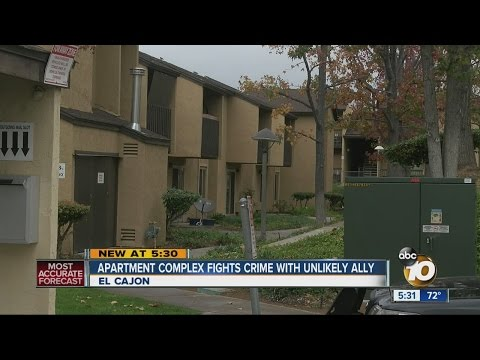 El Cajon apartment complex fights crime with unlikely ally