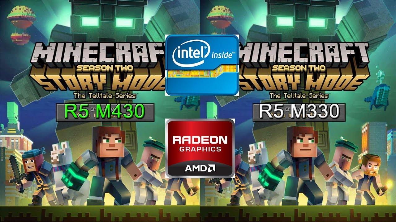 Minecraft FPS test On AMD RADEON R5 M430 VS M330  !!!