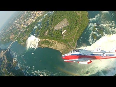 Snowbirds Over The Falls -- Breathtaking Aerial Views of Niagara Falls -- HD Cockpit Video