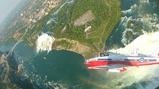 Snowbirds Over The Falls -- Breathtaking Aerial Views of Niagara Falls -- HD Cockpit Video