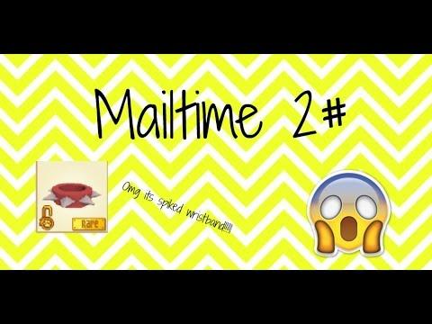 2# Mailtime! Got red rare spiked wrist band ( short ) { ANIMAL JAM }    Splashkittyairist aj  