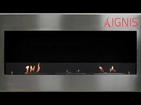 Ethanol Fireplace - Optimum - Recessed Ventless Fireplace