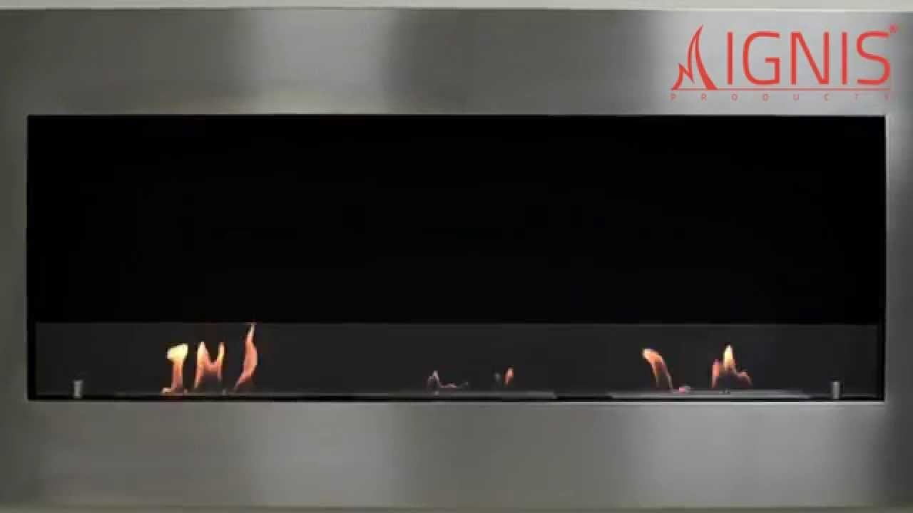 ethanol fireplace optimum recessed ventless fireplace youtube