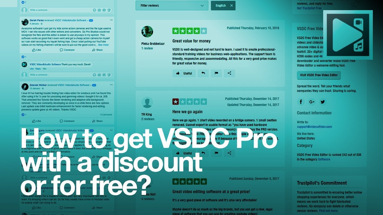 Get VSDC Pro with a discount or for FREE!