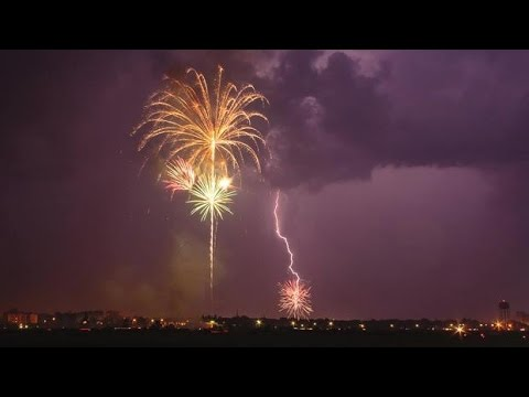 Fireworks N Lightening Pictou Lodge Nova.Scotia