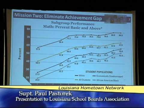 Superintendent of Education Paul Pastorek at the Louisiana School Boards Association