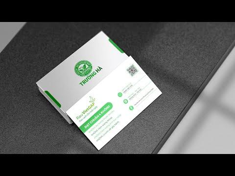 Thiết kế card visit thương hiệu rau an toàn