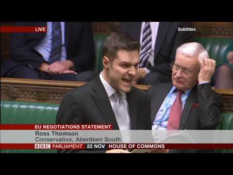 Ross Thomson MP at the EU Negotiations Statement
