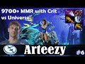 Arteezy - Mirana Safelane | 9700+ MMR with Crit | vs Universe | Dota 2 Pro MMR  Gameplay #6