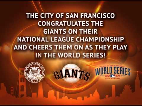 City County of San Francisco Congratulates Giants 2014