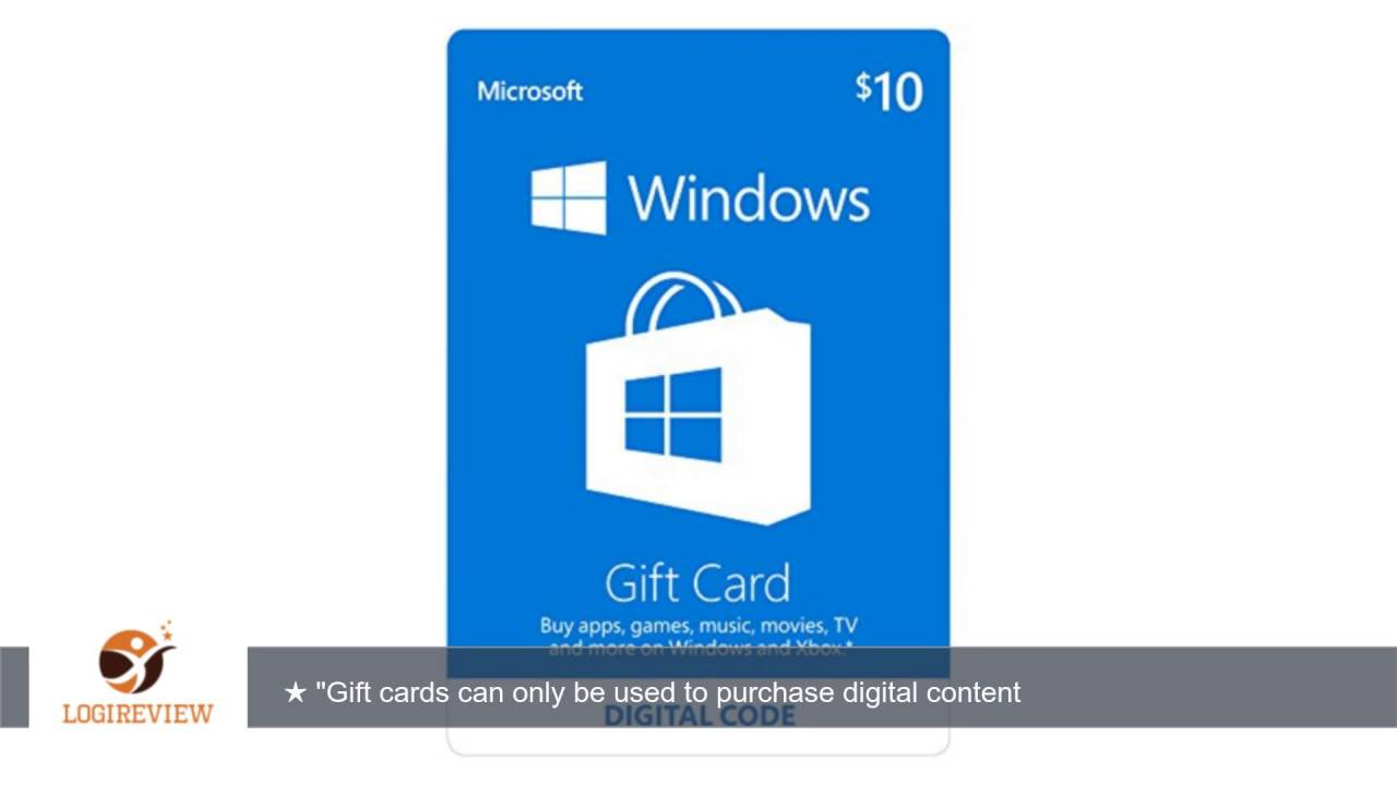 Microsoft Windows Store Gift Card - $10 Value [Online Code ...