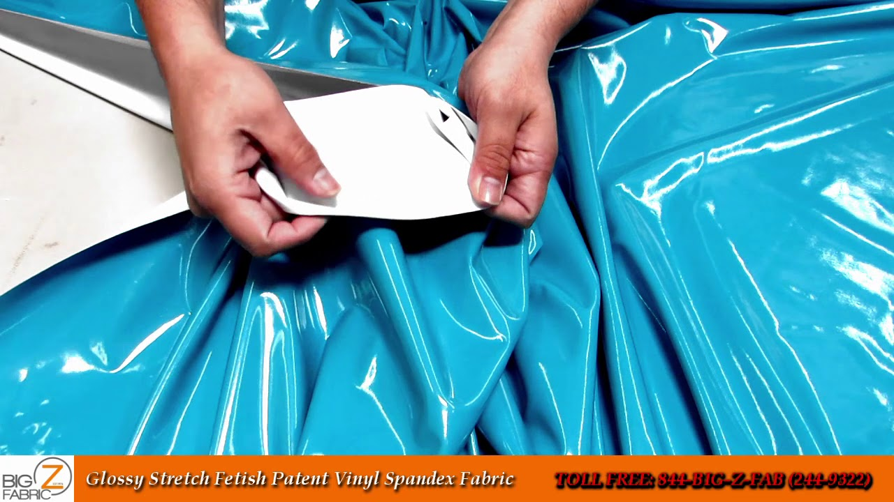 GLOSSY STRETCH FETISH PATENT VINYL SPANDEX FABRIC BY THE YARD COSPLAY APPAREL