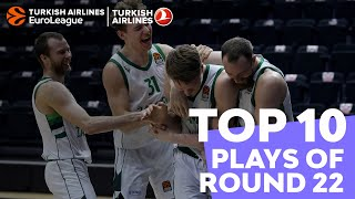 Turkish Airlines EuroLeague Regular Season Round 22 Top 10 Plays