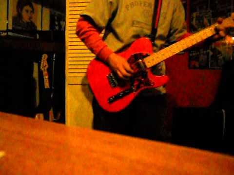 Orange Telecaster Guitar Riff, Work In Progress. Swamp Ash Body, V Profile Neck.