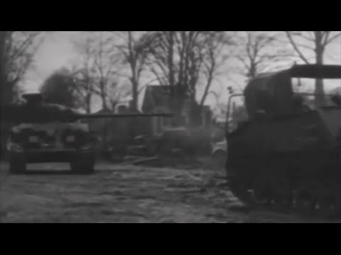British and Canadian Troops Under Field Marshal Montgomery Push Into NW Germany